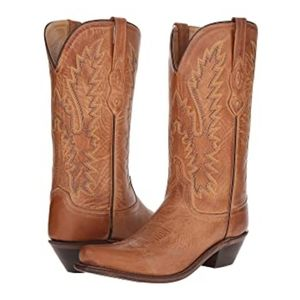 NWT OLD WEST Classic Tan Leather Cowboy Boots